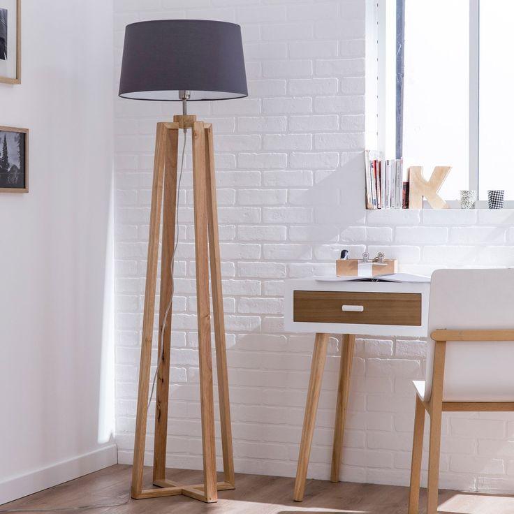 Les 25 meilleures id es de la cat gorie lampadaire pied bois sur pinterest lampe pied bois - Lampadaire 3 pieds ...