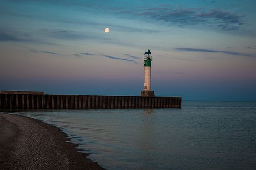 Lighthouse at Sunrise in Grand Bend Ontario.