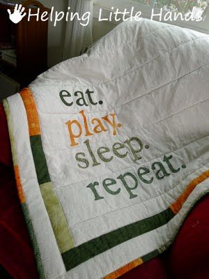Funny baby blanket