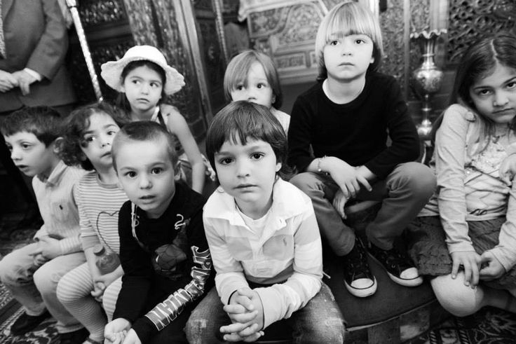 Happy curious children