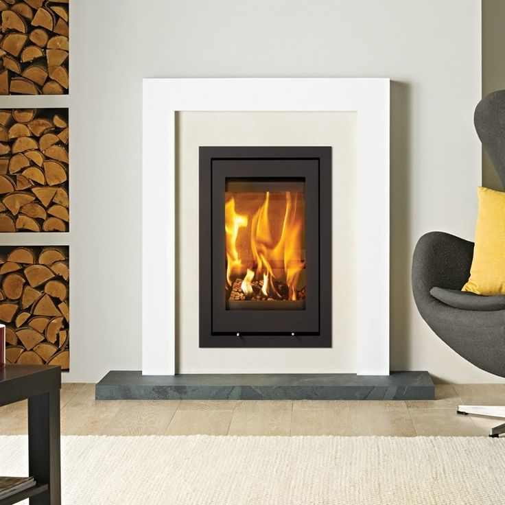 A perfect portrait wood burning fire