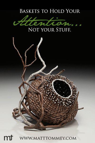 http://www.matttommey.com  Contemporary Basketry Artist Matt Tommey creates one of a kind sculptural art baskets.