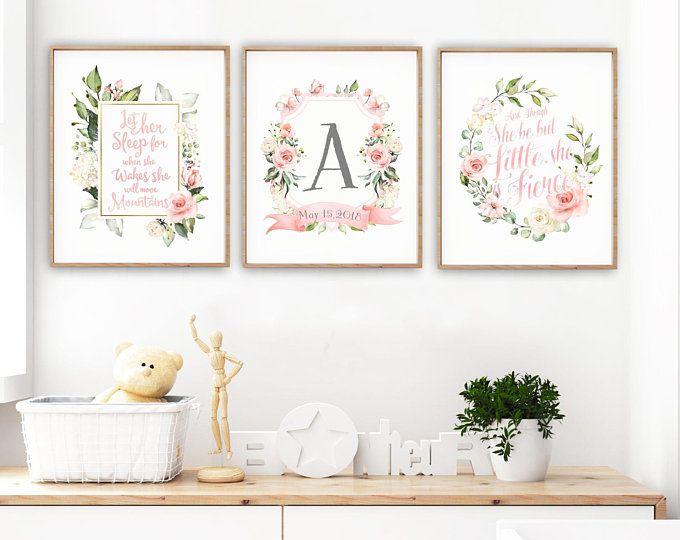 Toddler Room Wall Art Monogram Print