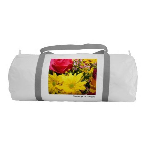 Simply Flowers Gym Duffel Bag