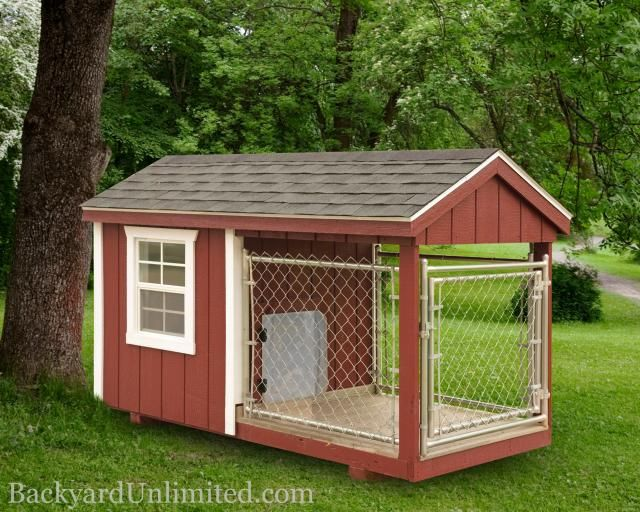 Deluxe Dog Kennel And Run Plans