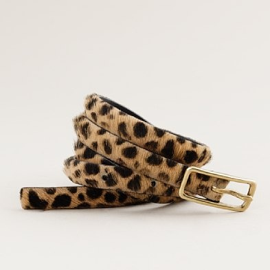 Adds a touch of leopard print to an outfit