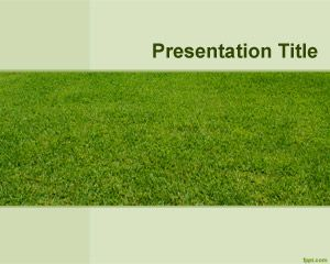 Lawn Yard PowerPoint Template is a free template with green yard background image
