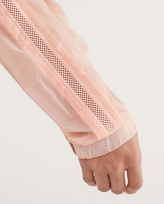 Textile, fabric, pink, jacket, sleeve, breathable, webbing, stitched, hole pattern