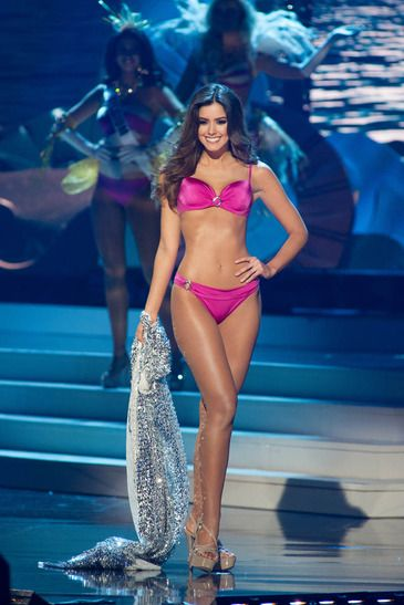 Miss Universe 2014 Paulina Vega of Colombia at the Miss Universe Swimsuit Competition