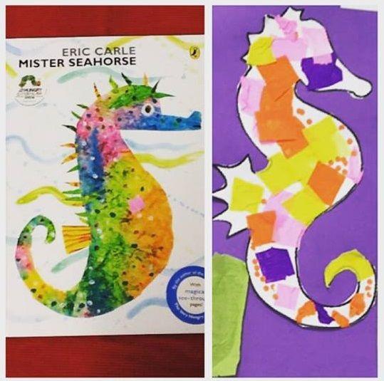 Mister seahorse book crafts | funnycrafts