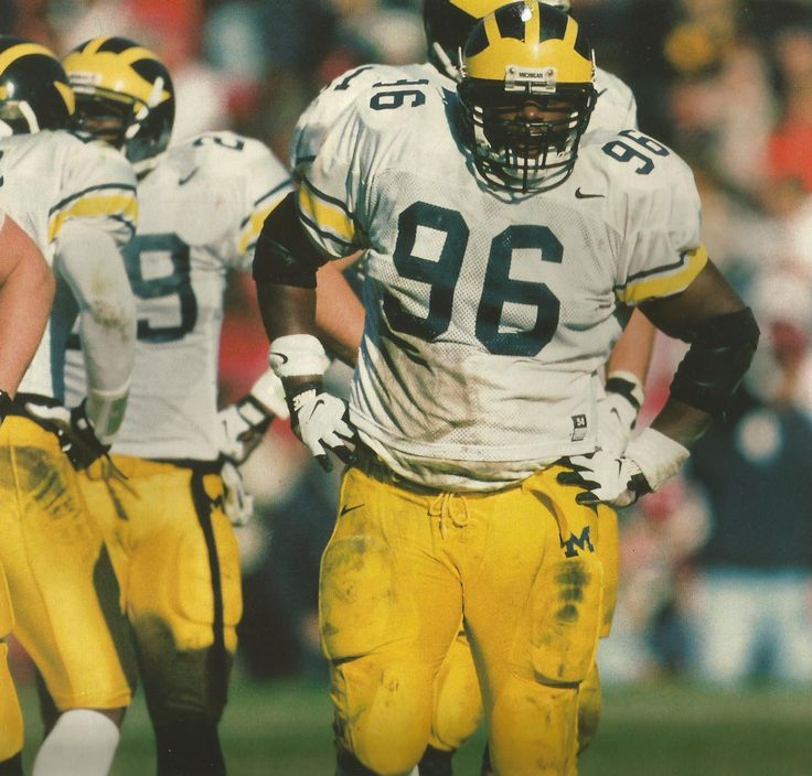 William Carr. Photo by Bob Rosato,  from 1998 Michigan Wolverines Football…