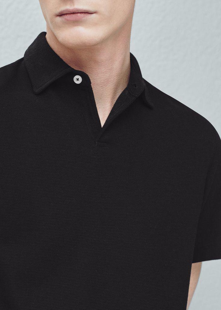 Polo coton texturé - Polos pour Homme | MANGO Man France