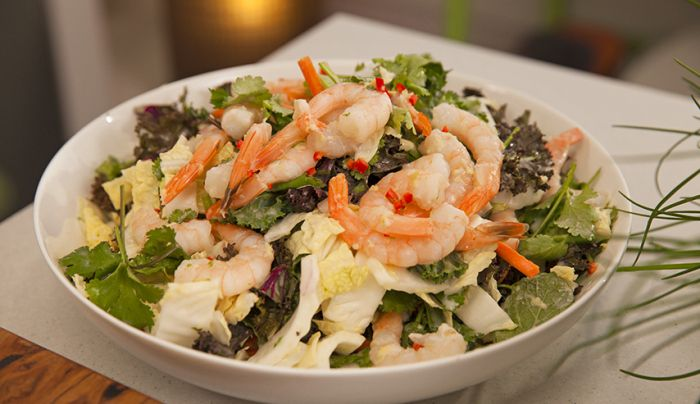 Asian-Style Prawn Coleslaw with Lime Coconut Dressing - Good Chef Bad Chef