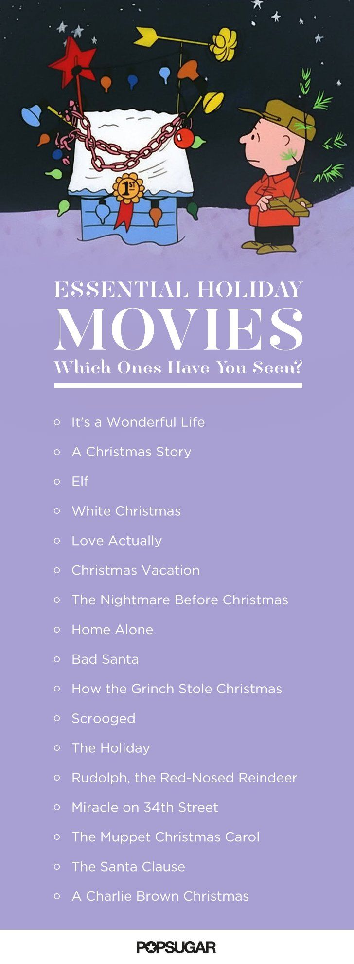 Essential Holiday Movies Checklist