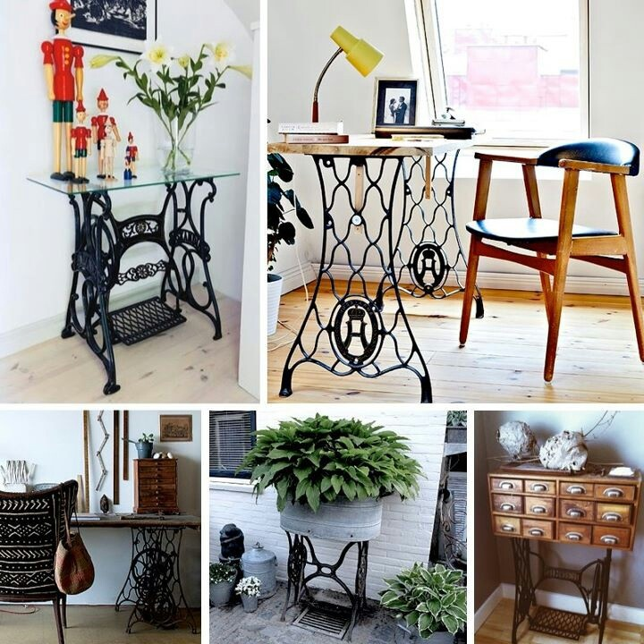 17 Best Images About Repurposed Furniture On Pinterest: Repurposed Vintage Sewing Machines......