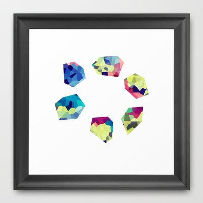DIAMONDS OF STONEHENGE Framed Art Print by Uta Krauss - $33.00