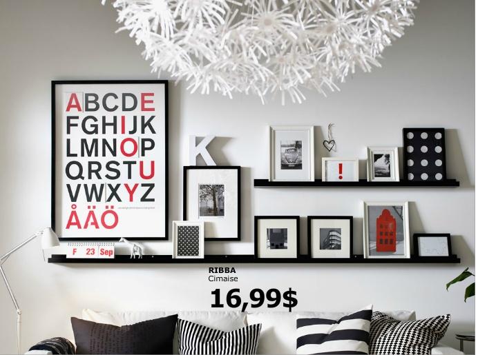cimaises pour cadre photo chez ikea cadres photos. Black Bedroom Furniture Sets. Home Design Ideas