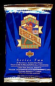 1993 UPPER DECK Baseball Cards, Series TWO, Four Unopened Packs
