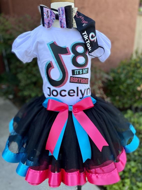 Custom Tik Tok Inspired Tutu Set Outfit Tik Tok Birthday Pink Tik Tok And Black Tiktok Birthday Tiktok Birthday Shirt Tik Tok Tutu Outfit Em 2021 Festa Aniversario Festa Ideias Para Festas