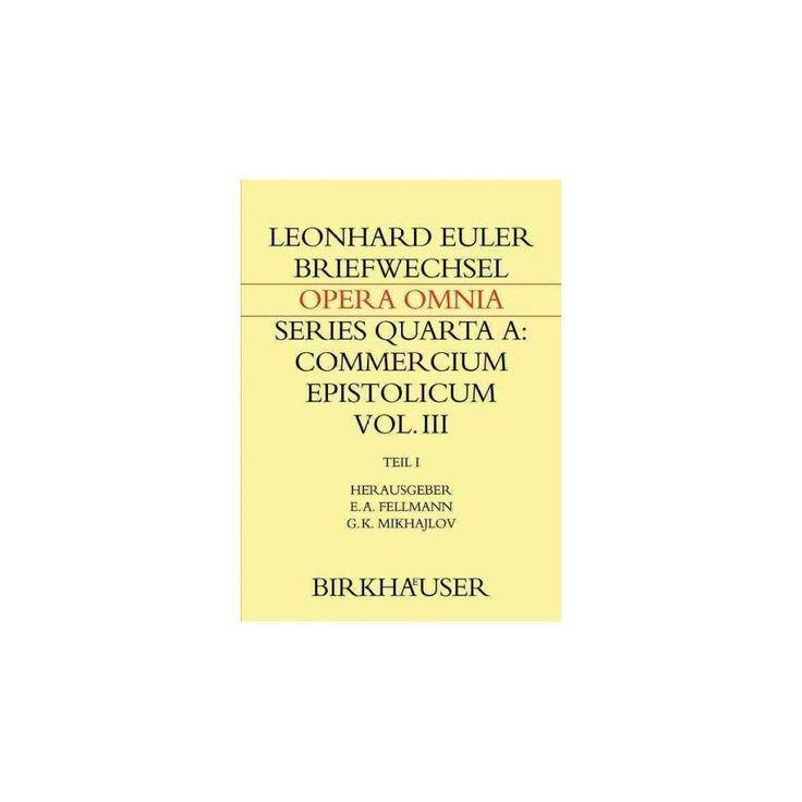 Briefwechsel Mit Daniel Bernoulli : Einleitungen, Briefwechsel 1726–1743 (Hardcover) (Leonhard