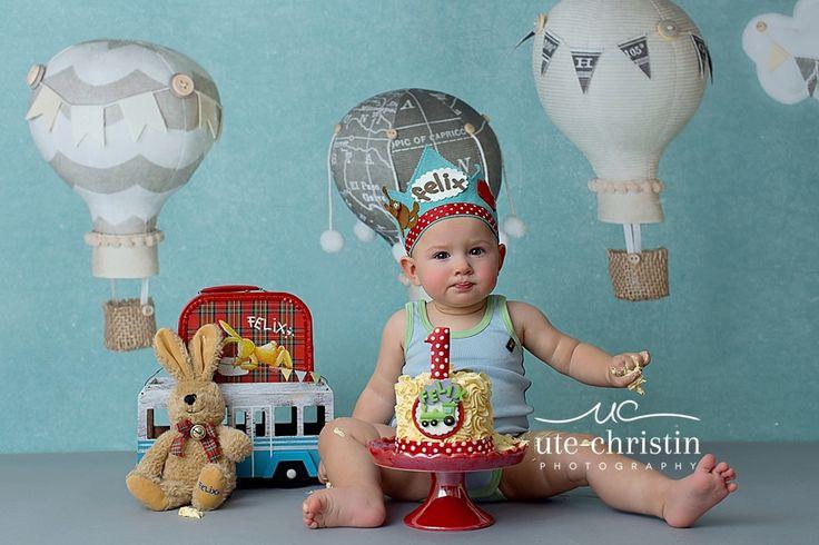Felix Der Hase Cakesmash  #traveltheme #cakesmash #ballooncakesmash