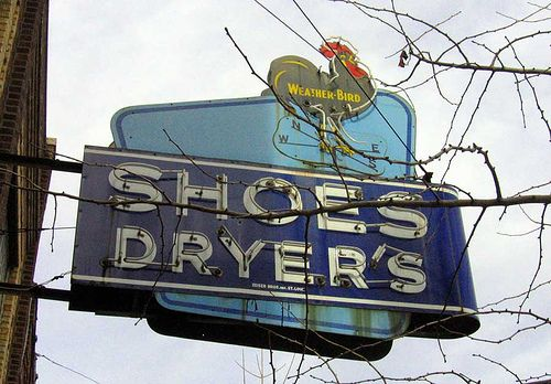 Dryer's Shoe Neon Sign