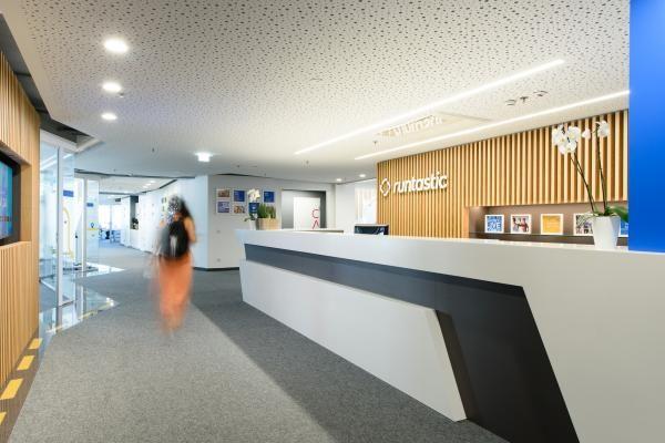 Runtastic Headquater, Austria - main entrance, reception desk