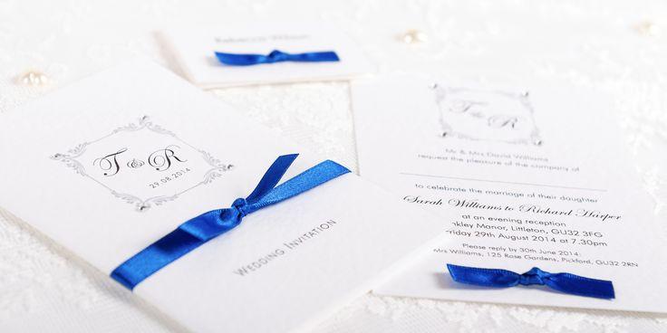 Lavish Handmade Wedding Invitation Design - pearl and ribbon