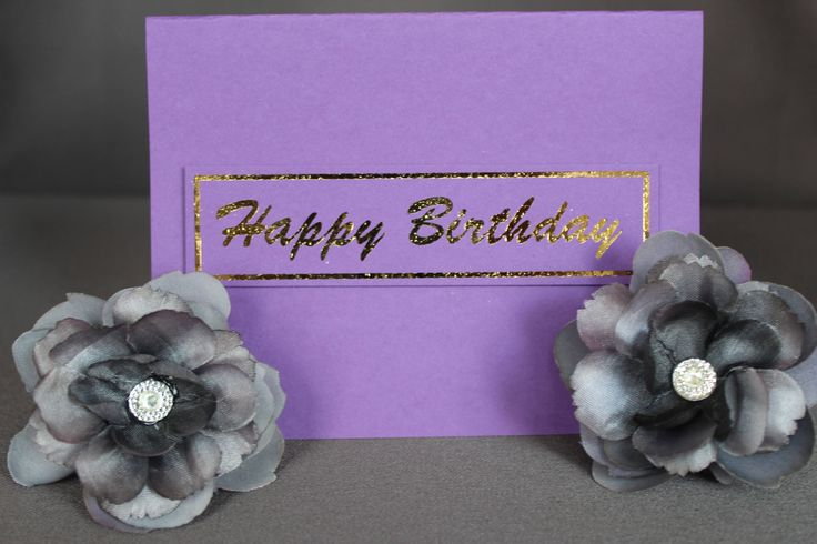Purple Happy Birthday Cards With Gold Foil by DazzlingCreationsCA on Etsy