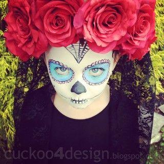 DIY sugar skull costume