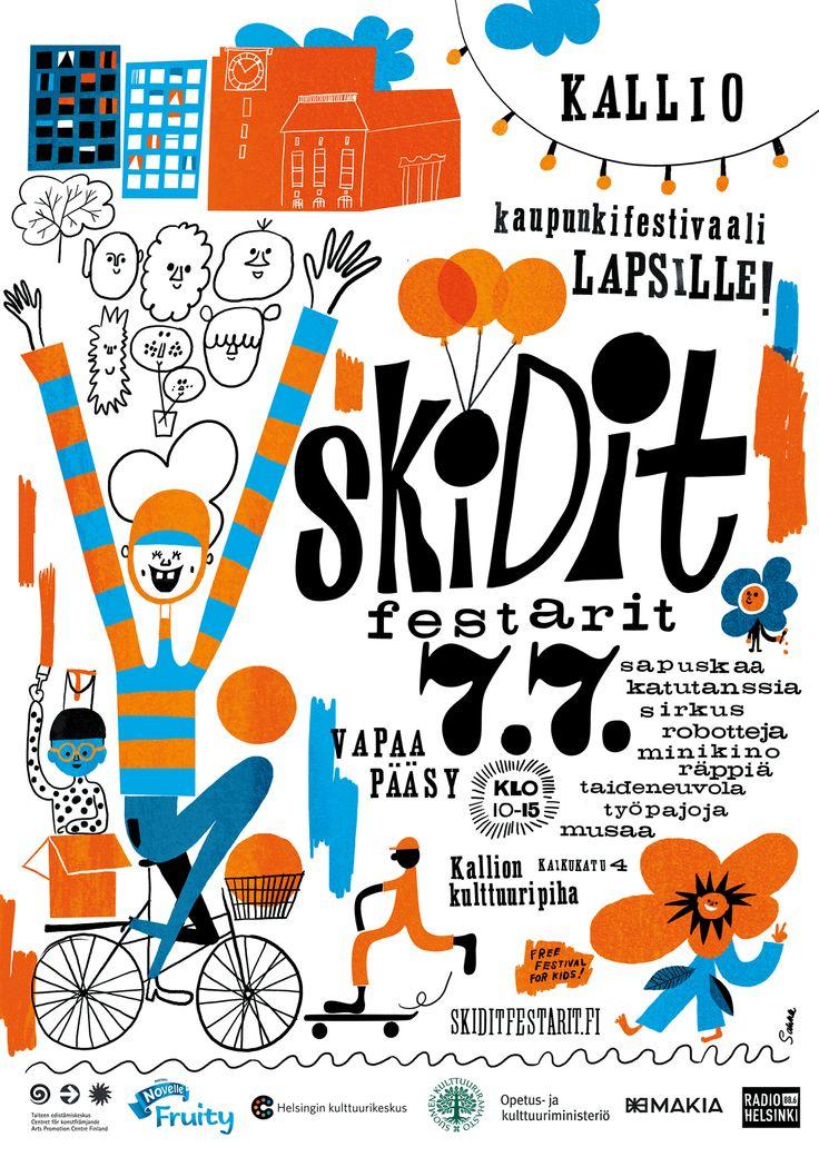 Skidit Festarit Helsingissä 7.7.2013 - kirjasto on mukana menossa!