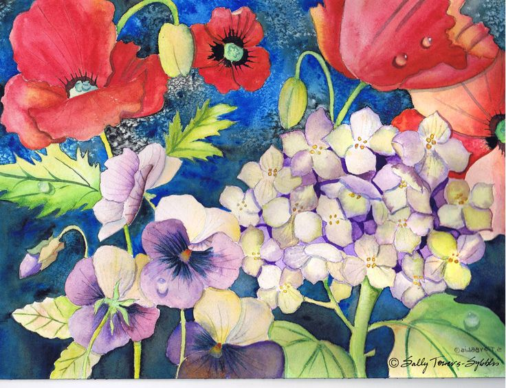 Midnight Bouquet print by Sally Towers-Sybblis