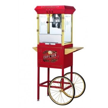 Popcorn machine- with cart, Full Size,Commercial Popcorn Machine with Cart