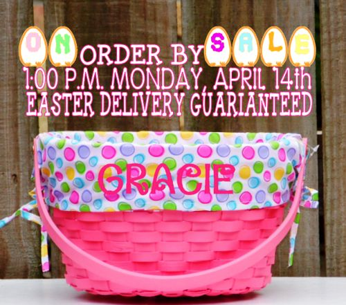 11 best 1st easter basket images on pinterest easter baskets a tisket a tasket theres still time to order your personalized easter baskets sale little negle Gallery