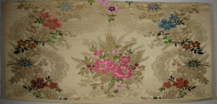 """San Vicente"", manual silk fabric from Garin company (Valencia, Spain)"