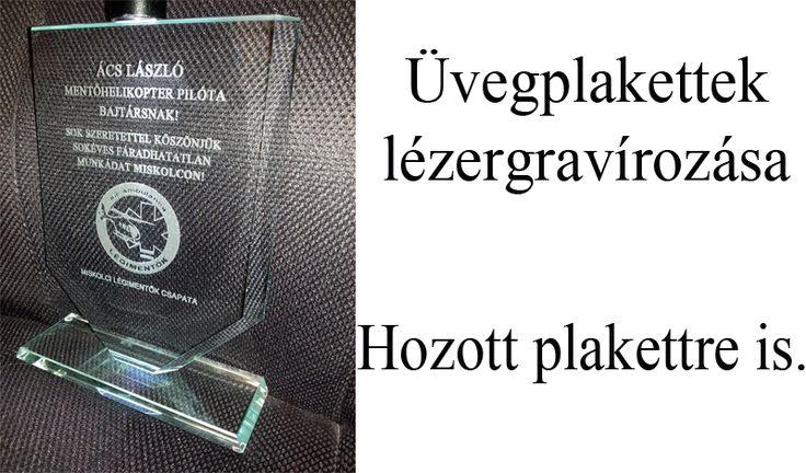Üvegplakettek lézeres gravírozása Miskolcon. http://miskolcgravir.hu/lezeres-gravirozas/gravirozhato-uvegplakettek-serlegek