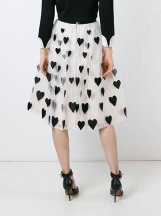 Alice+Olivia heart patch tulle skirt