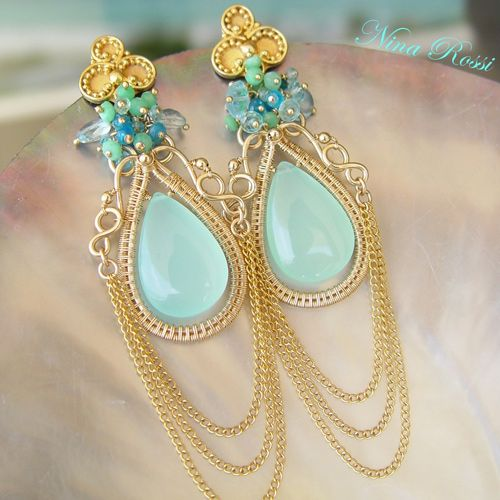 35 best nina rossi images on Pinterest | Wire jewelry earrings ...