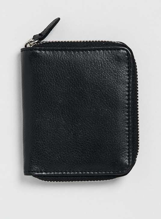 Topman | Black Leather Zip Around Wallet #topman #wallet
