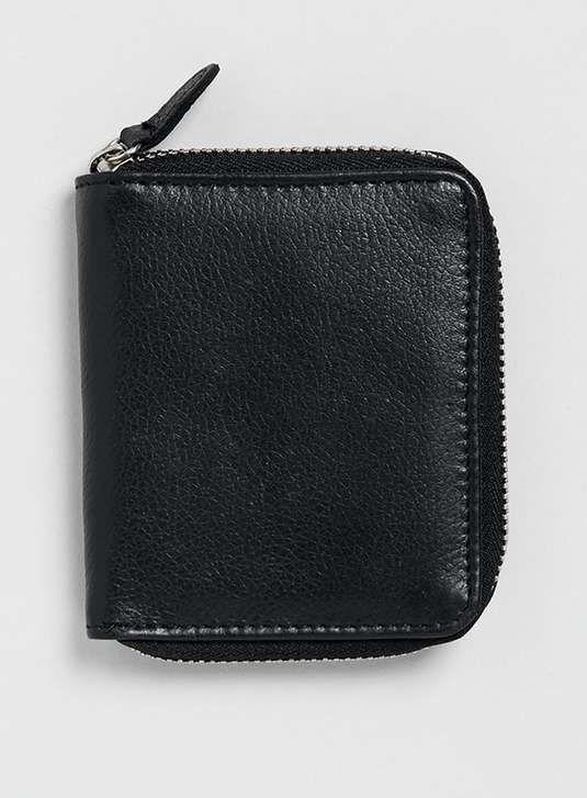 Topman | Black Leather Zip Around Wallet #topman #wallet
