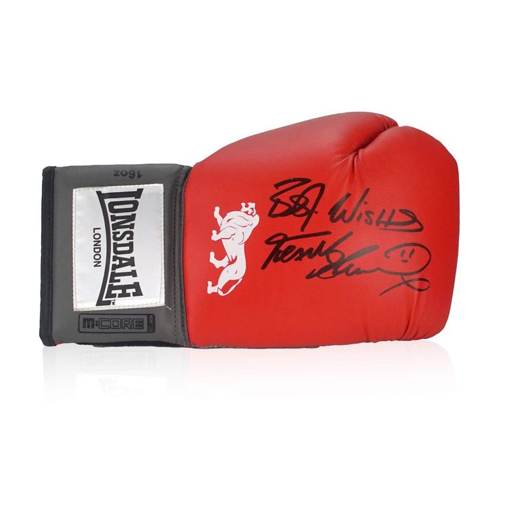Frank Bruno Signed Boxing Glove.   £59.99 from Exclusive Memorabilia