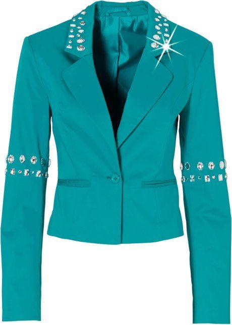 Bonprix Blazer colbert jasje groen blauw BODYFLIRT smaragdgroen blazer jacket green blue bling