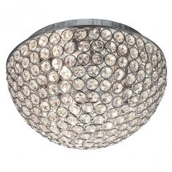 Searchlight 5162-25CC Chantilly Crystal Flush Ceiling Light Polished Chrome