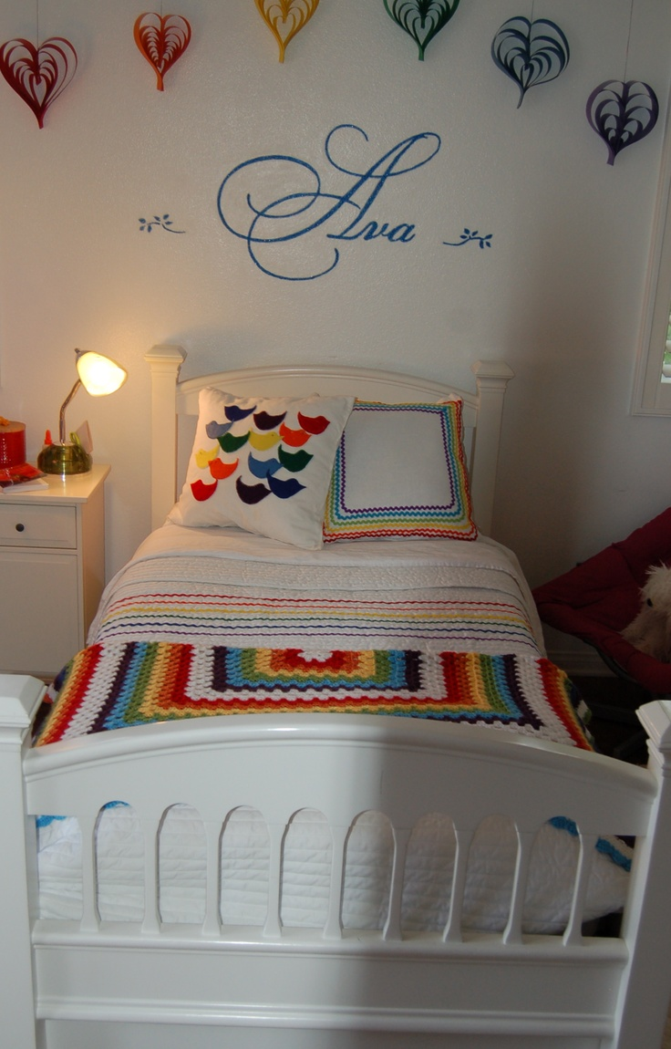 125 best ideas for kids room images on pinterest girls for Rainbow kids room