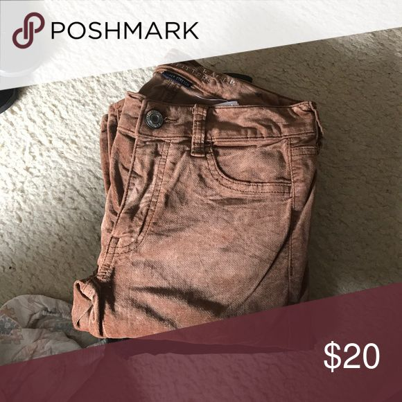 American Eagle Velvet Jeggings BEAUTIFUL CARAMEL COLOR! Perfect with any spring-winter outfit! American Eagle Outfitters Jeans Skinny