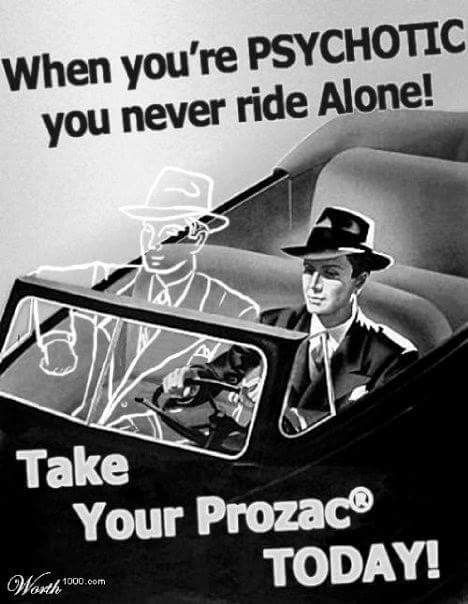 Take those pills and you've got even more invisible friends joining you in the car!