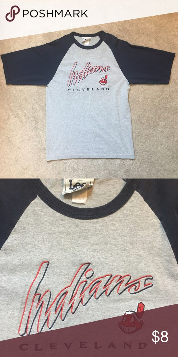 Vintage Cleveland Indians Baseball Tee Vintage Cleveland Indians Baseball Tee. Very cool font and letting on front of Tee. Size medium and fits accordingly. Get prepared for baseball season with this throwback! Lee Shirts Tees - Short Sleeve