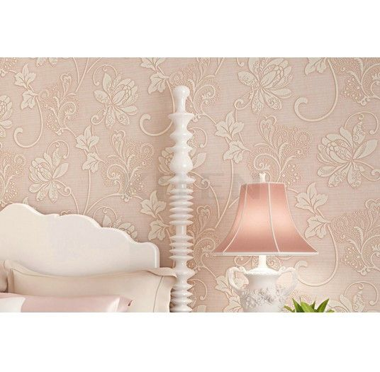 Flowers Flocking Embossed Textured Wallpaper Home Improvement Luxury 3D Rolls 10M