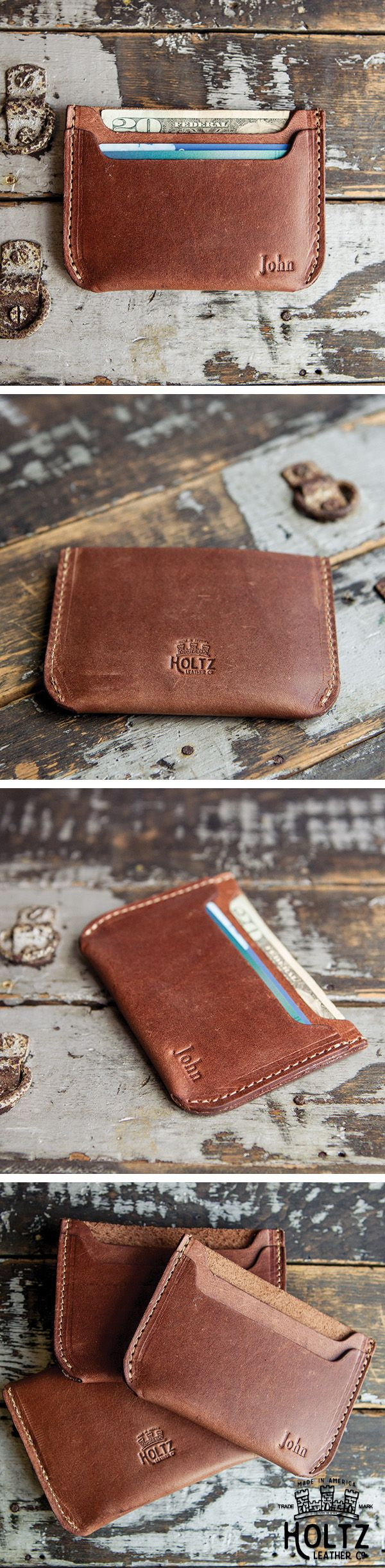 The Bradford Front Pocket Double Sleeve Fine Leather Wallet is handmade right here in our shop with the finest of Full Grain American leathers. We hand pick our leather hides from a local tannery ~ for a rustic look and feel. This is a gift that will be used and loved for a lifetime! Perfect for the executive, professional, father, or dear friend in your life.