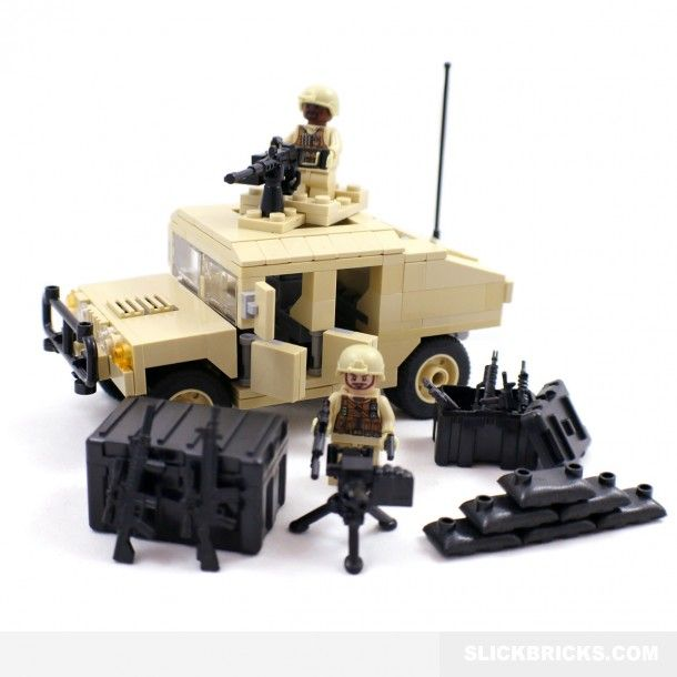 Desert Army Humvee - Lego Compatible